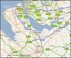 Map of Ellesmere Port